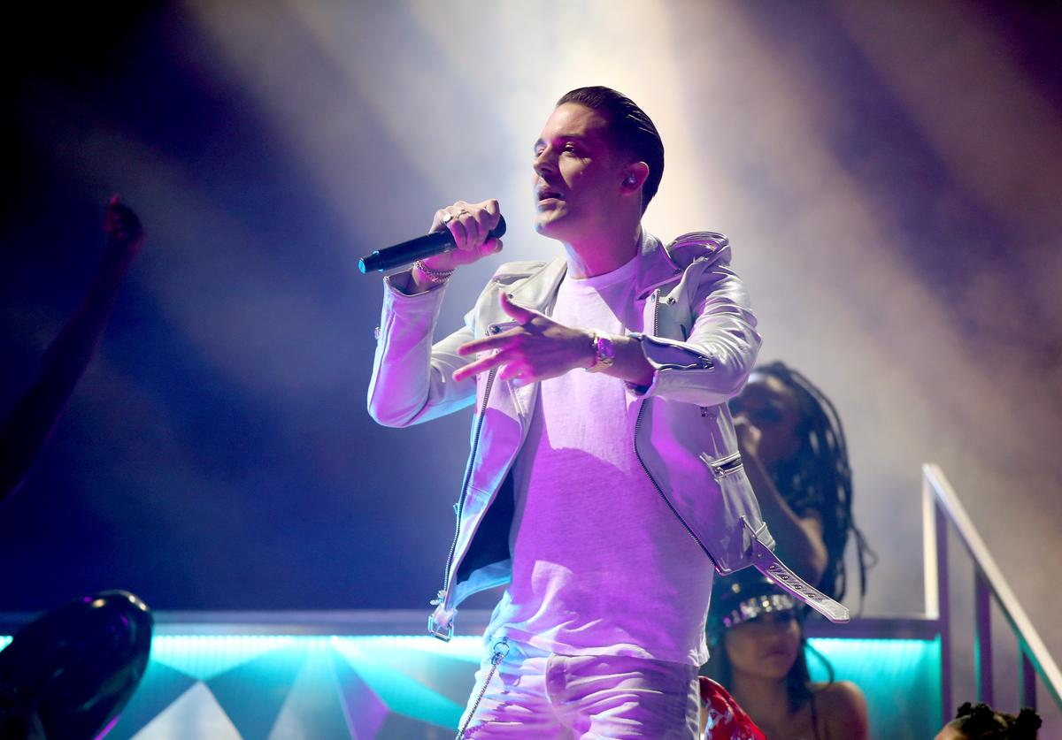 G-Eazy performs onstage during the 2018 iHeartRadio Music Awards which broadcasted live on TBS, TNT, and truTV at The Forum on March 11, 2018 in Inglewood, California