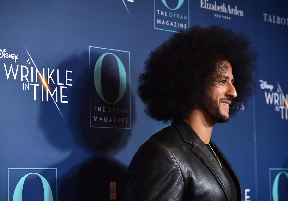 Colin Kaepernick attends as O, The Oprah Magazine hosts special NYC screening of 'A Wrinkle In Time' at Walter Reade Theater at Walter Reade Theater on March 7, 2018 in New York City