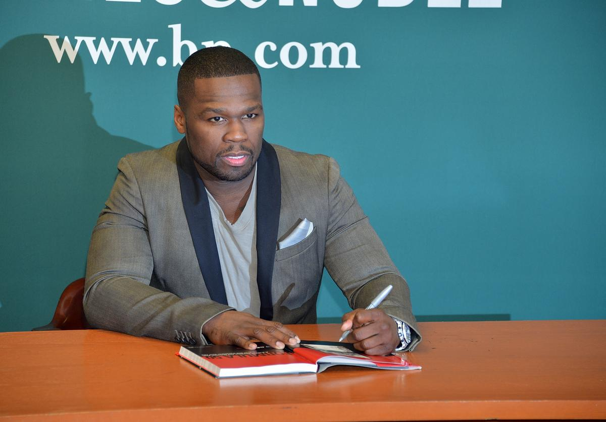 50 Cent promotes his new book 'Formula 50: A 6-Week Workout and Nutrition Plan That Will Transform Your Life' at Barnes & Noble, 5th Avenue on January 16, 2013 in New York City