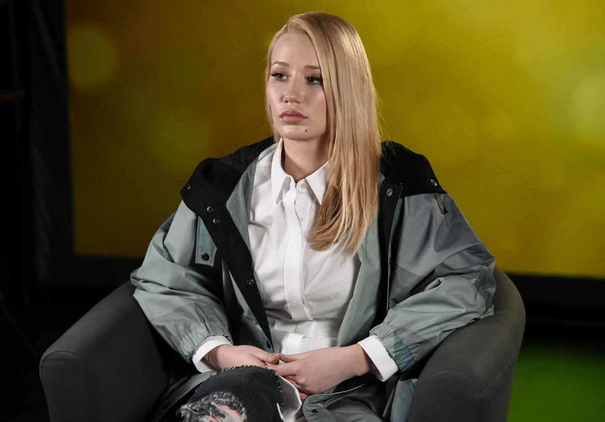 Iggy Azalea visits at Music Choice on March 23, 2016 in New York City