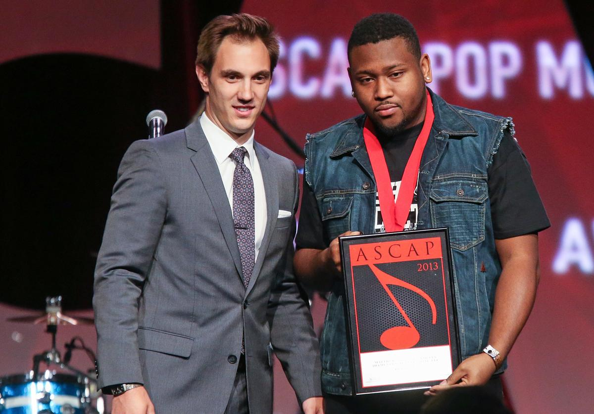 Matthew 'BOI 1DA' Samuels receives an award on stage during the 30th Annual ASCAP Pop Music Awards at Loews Hollywood Hotel on April 17, 2013 in Hollywood, California.
