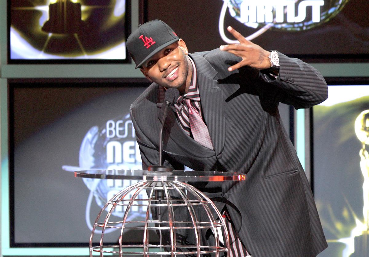 Rapper The Game accepts his award for 'World's Best Selling New Male Artist' onstage at the 2005 World Music Awards at the Kodak Theatre on August 31, 2005 in Hollywood, California.