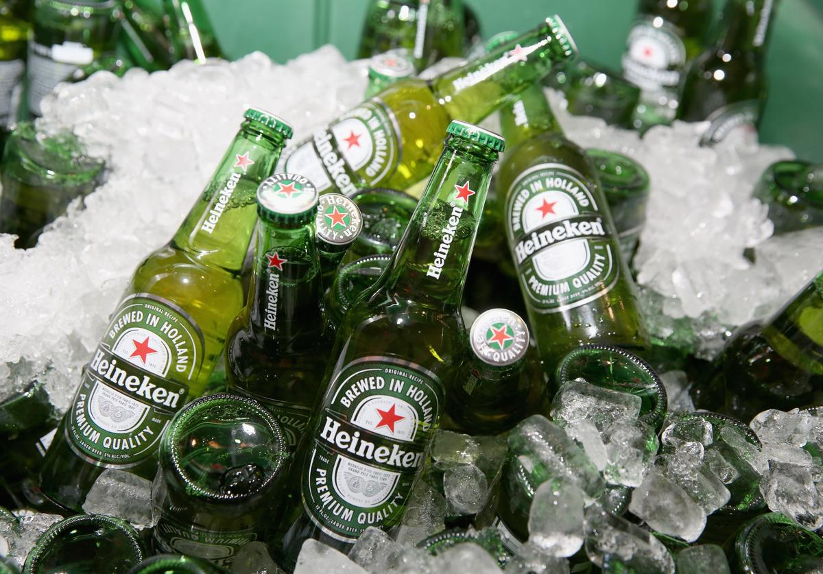 A shot of Heineken beer at Lucky Chopsticks: An Asian Night Market hosted by Andrew Zimmern at Metropolitan West on October 16, 2016 in New York City
