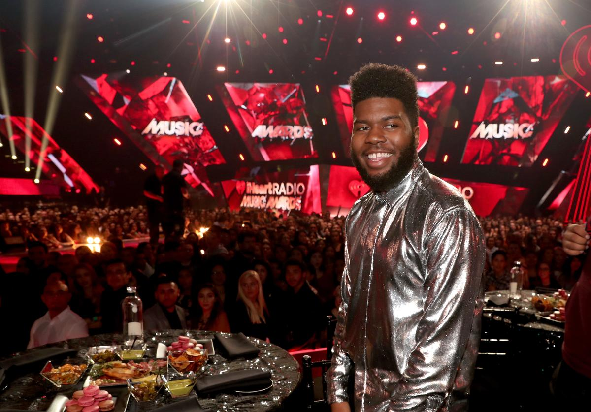 Khalid attends the 2018 iHeartRadio Music Awards which broadcasted live on TBS, TNT, and truTV at The Forum on March 11, 2018 in Inglewood, California.