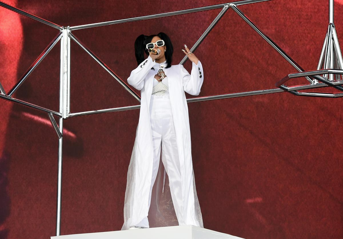 Cardi B performs onstage during the 2018 Coachella Valley Music and Arts Festival Weekend 1 at the Empire Polo Field on April 15, 2018 in Indio, California