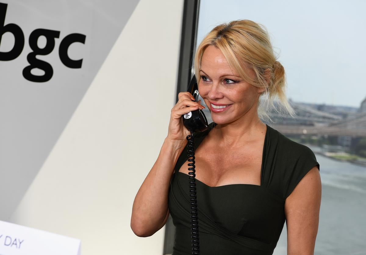 Actress Pamela Anderson attends Annual Charity Day hosted by Cantor Fitzgerald, BGC and GFI at BGC Partners, INC on September 11, 2017 in New York City.