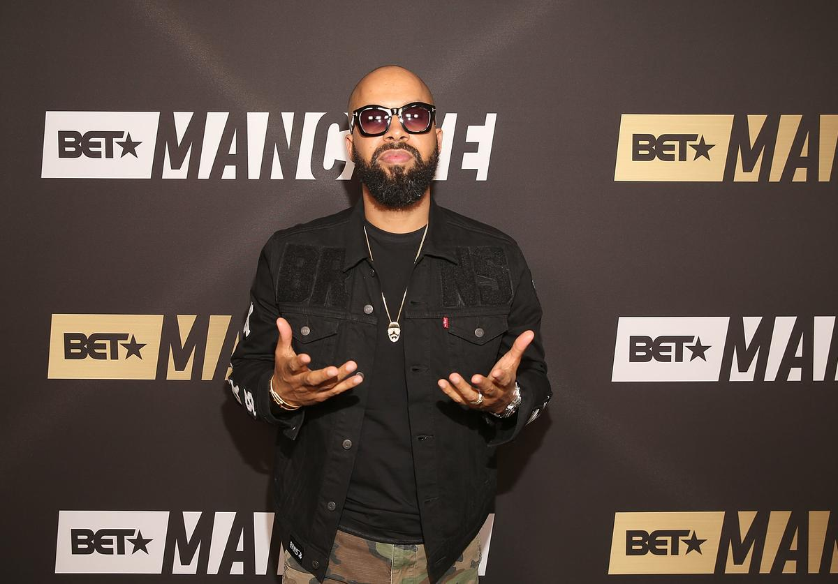 Kenny Burns attends BET Network's 'Mancave' Event at Goya Studios on February 16, 2018 in Los Angeles, California