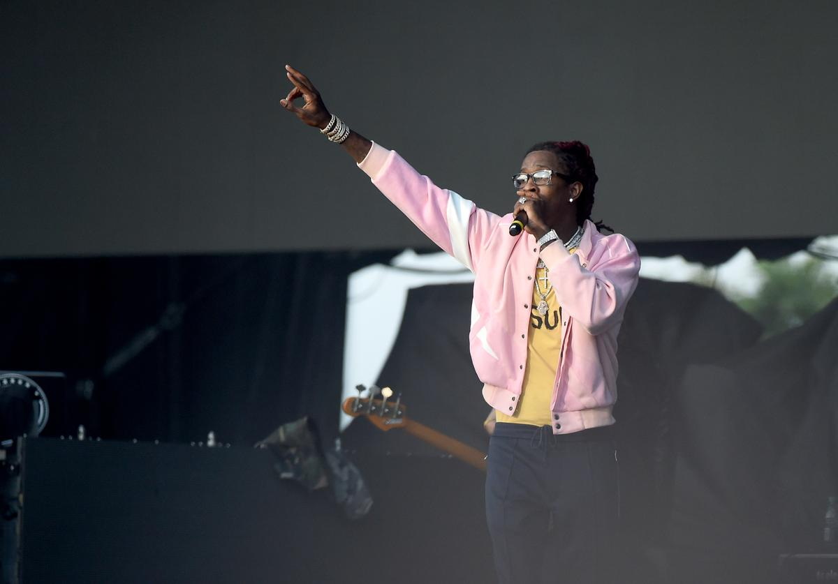 Young Thug performs onstage during the Meadows Music and Arts Festival - Day 2 at Citi Field on September 16, 2017 in New York City.