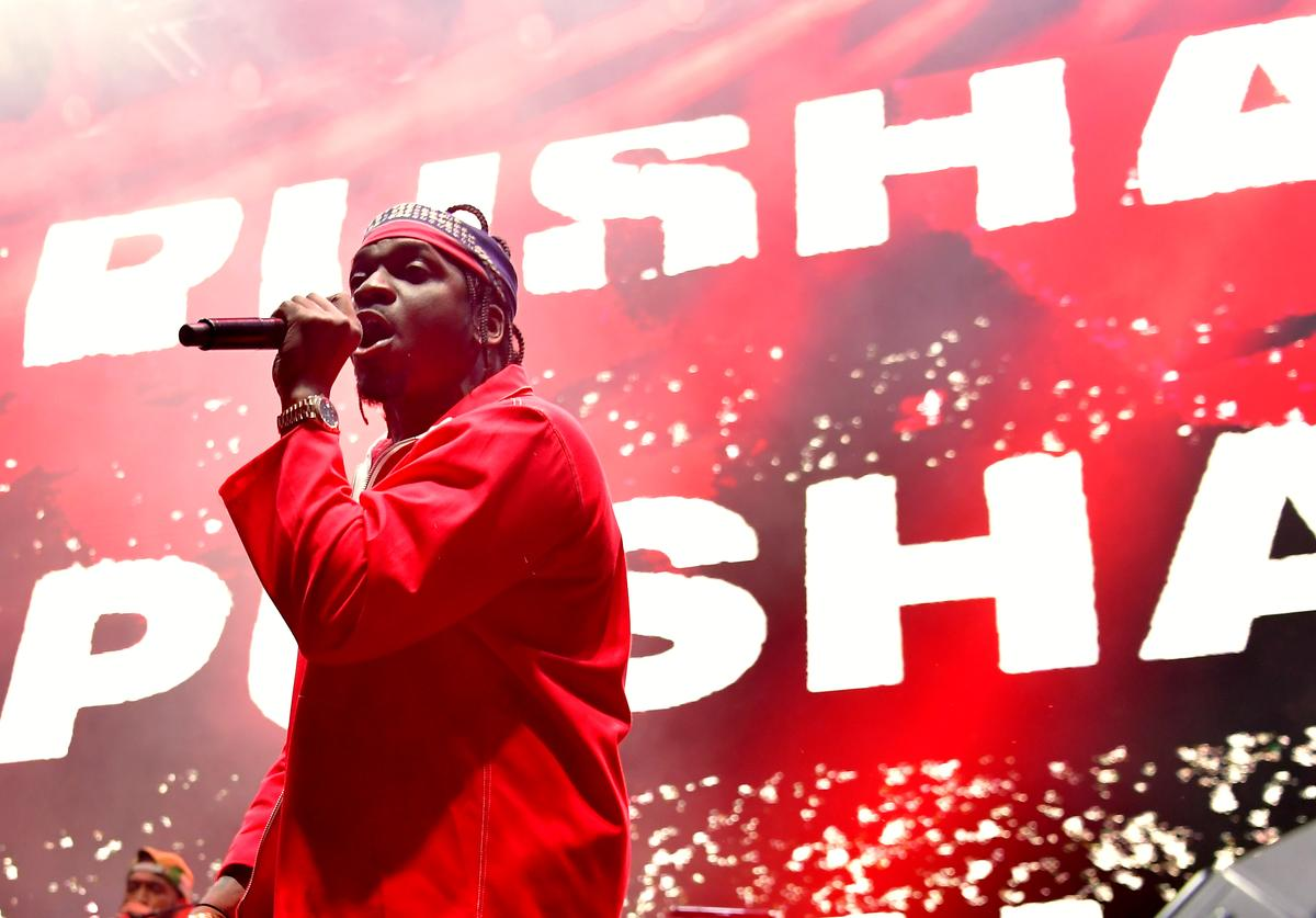 Pusha T performs onstage during adidas Creates 747 Warehouse St., an event in basketball culture, on February 16, 2018 in Los Angeles, California.