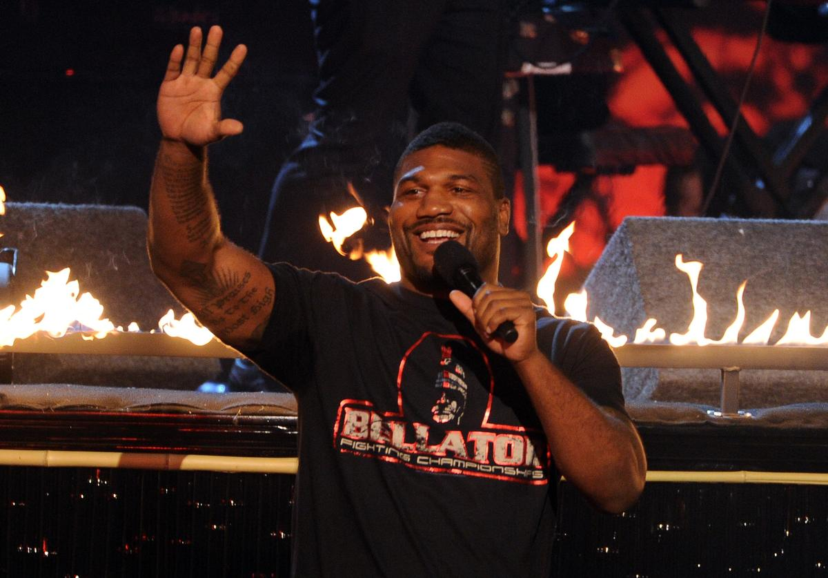MMA fighter Quinton 'Rampage' Jackson speaks onstage during Spike TV's Guys Choice 2013 at Sony Pictures Studios on June 8, 2013 in Culver City, California.