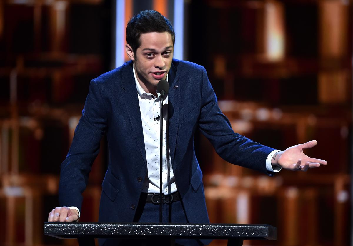 Pete Davidson speaks onstage at The Comedy Central Roast of Rob Lowe at Sony Studios on August 27, 2016 in Los Angeles, California