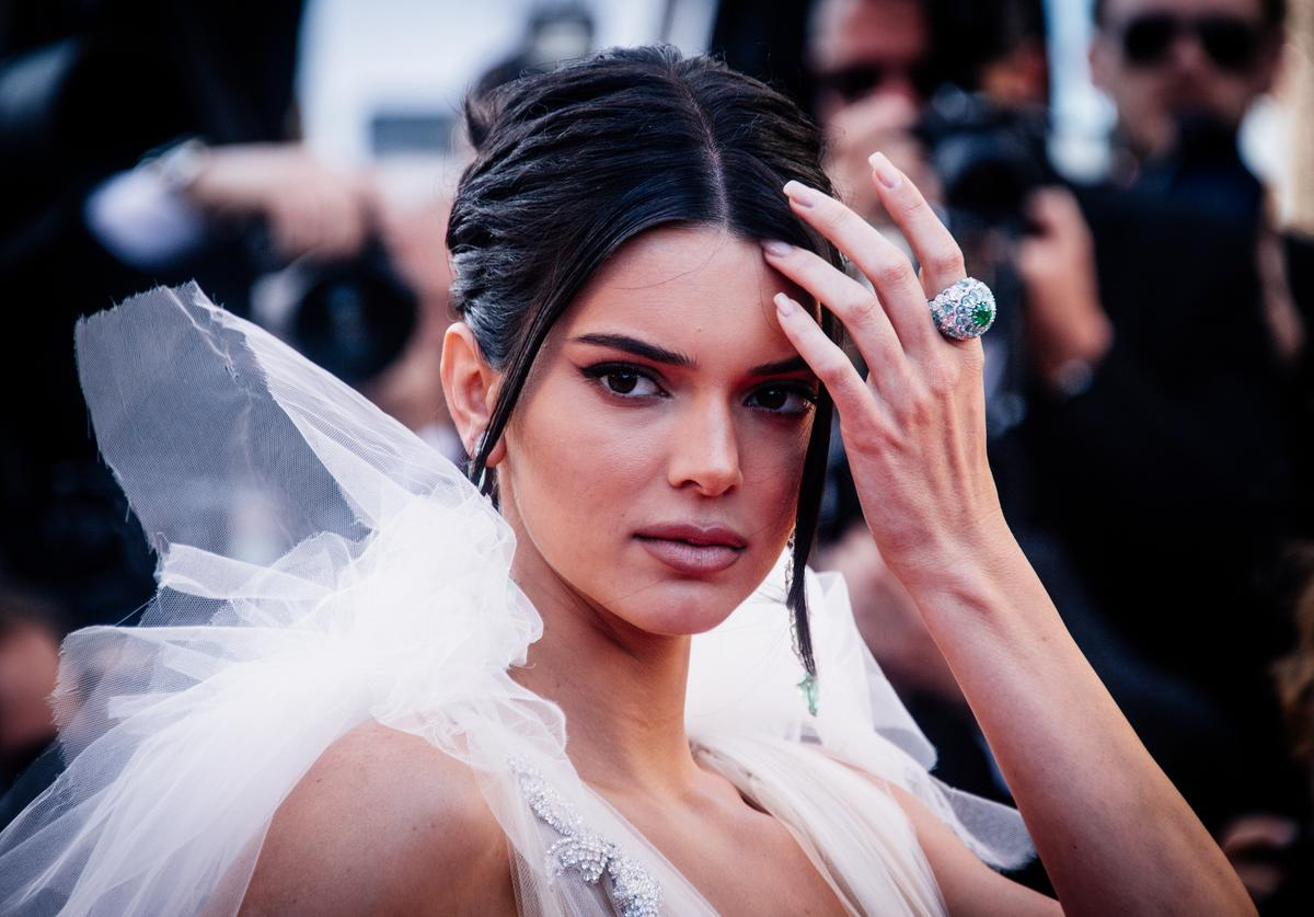 Kendall Jenner attends the screening of 'Girls Of The Sun (Les Filles Du Soleil)' during the 71st annual Cannes Film Festival at on May 12, 2018 in Cannes, France