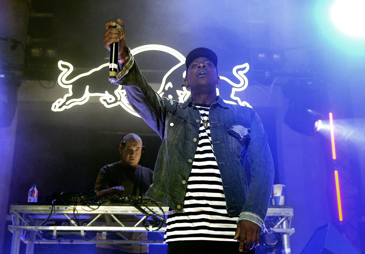 Skepta performs during the Red Bull Studios Future Underground third night at Collins Music Hall on September 11, 2015 in London, England.