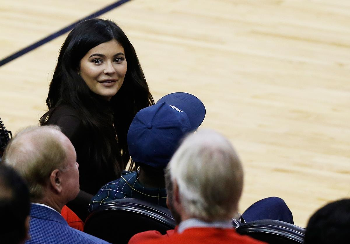 Kylie Jenner attends Game Seven of the Western Conference Finals of the 2018 NBA Playoffs between the Houston Rockets and the Golden State Warriors at Toyota Center on May 28, 2018 in Houston, Texas