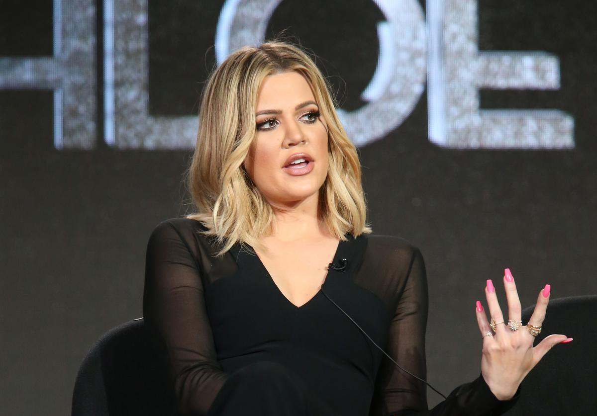 Khloe Kardashian, executive producer, speaks onstage during FYI - Kocktails with Khloe panel as part of the A+E Network portion of This is Cable 2016 Television Critics Association Press Tour at Langham Hotel on January 6, 2016 in Pasadena, California