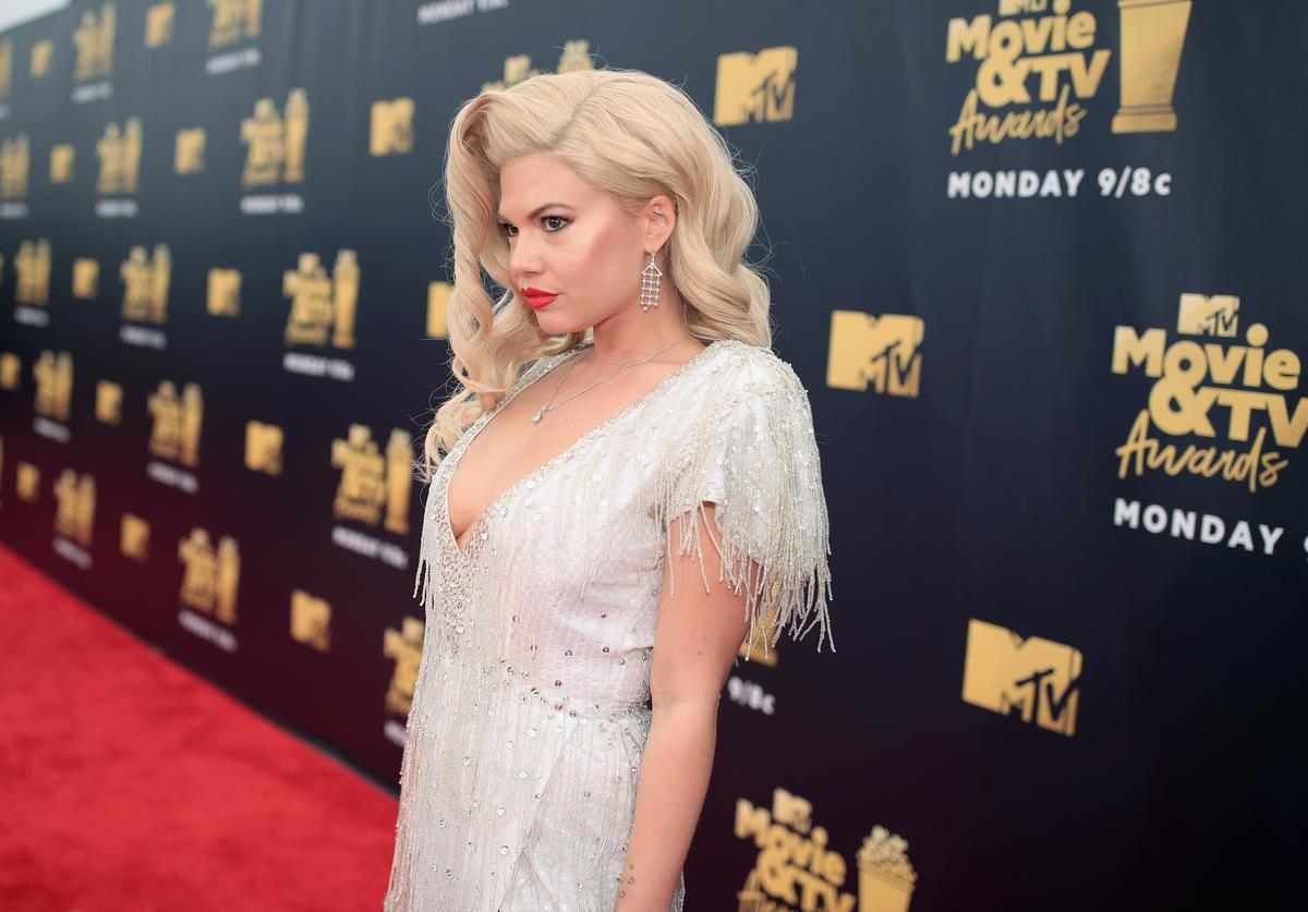 TV personality Chanel West Coast attends the 2018 MTV Movie And TV Awards at Barker Hangar on June 16, 2018 in Santa Monica, California.