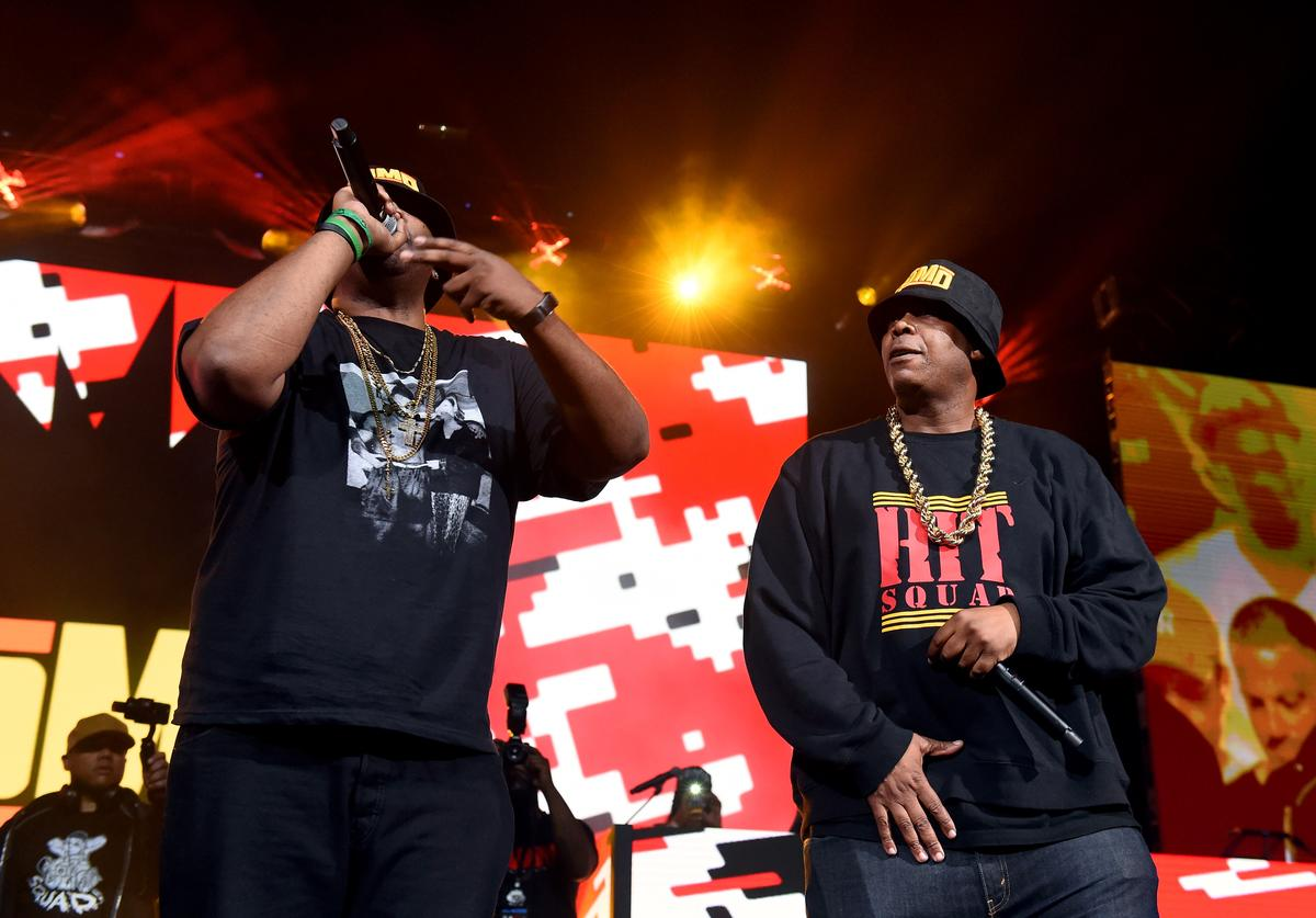 Erick Sermon and PMD of EPMD perform at the YO! MTV Raps 30th Anniversary Live Event at Barclays Center on June 1, 2018 in New York City