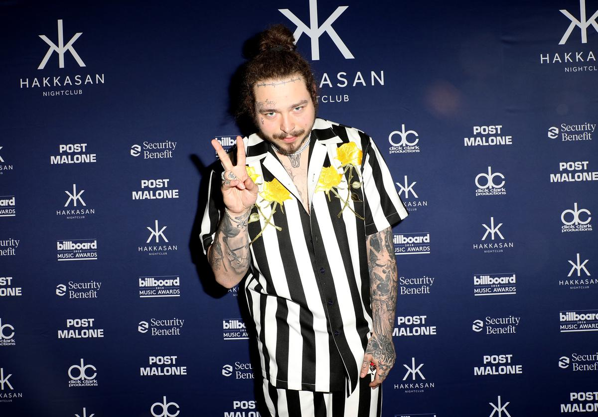 Post Malone attends the 2018 Billboard Music Awards official after party at Hakkasan Nightclub presented by Security Benefit at MGM Grand Hotel & Casino on May 20, 2018 in Las Vegas, Nevada