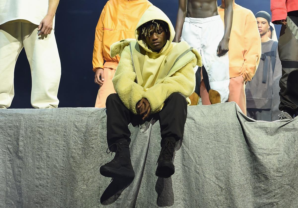 Ian Connor poses during Kanye West Yeezy Season 3 on February 11, 2016 in New York City.