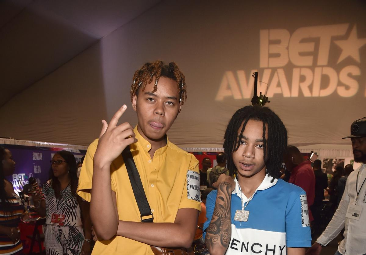 YBN Cordae (L) and YBN Nahmir attend day one of the 2018 BET Awards Radio Remotes on June 22, 2018 in Los Angeles, California.