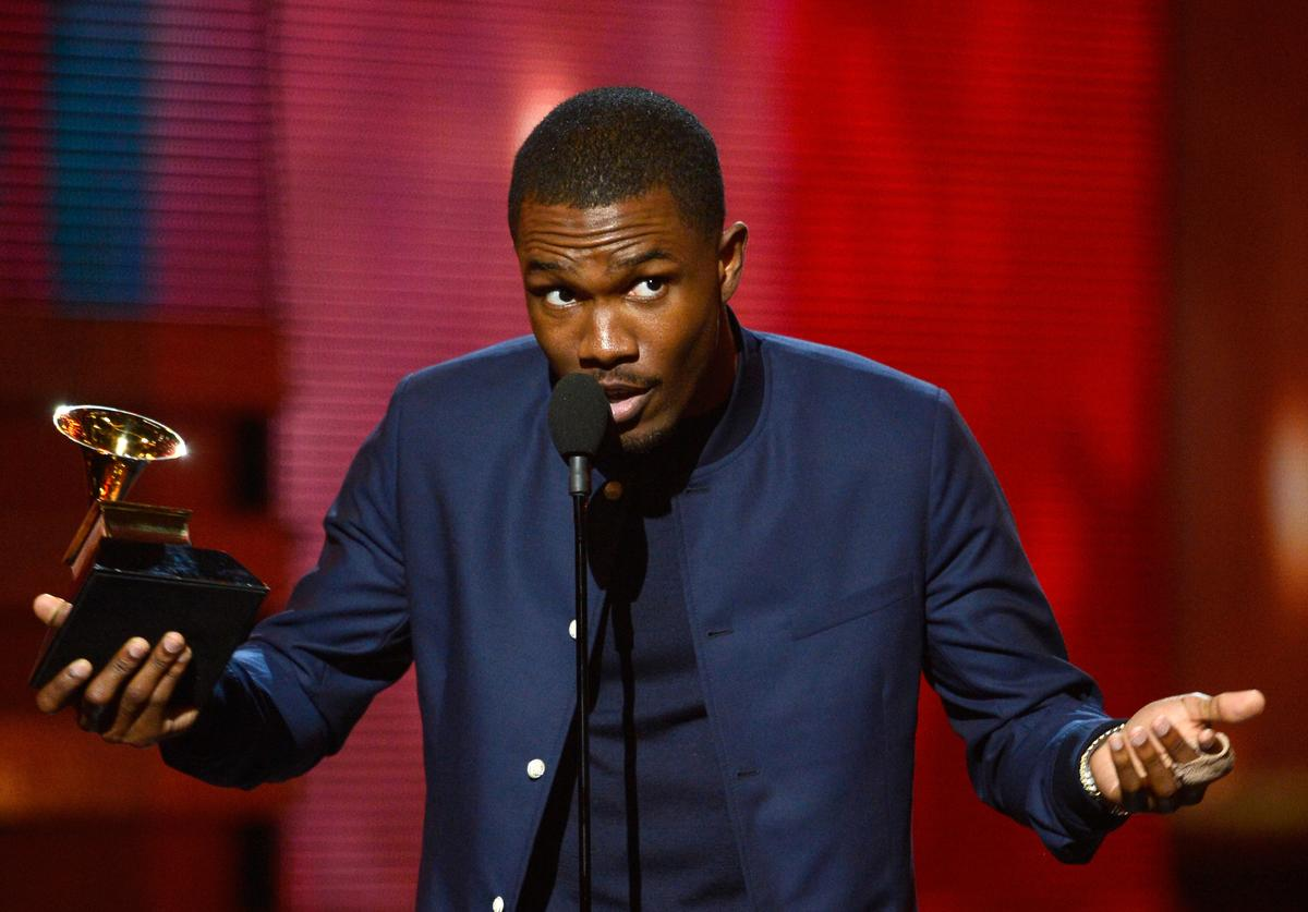 Frank Ocean accepts Best Urban Contemporary Album award for 'Channel Orange' onstage at the 55th Annual GRAMMY Awards at Staples Center on February 10, 2013 in Los Angeles, California