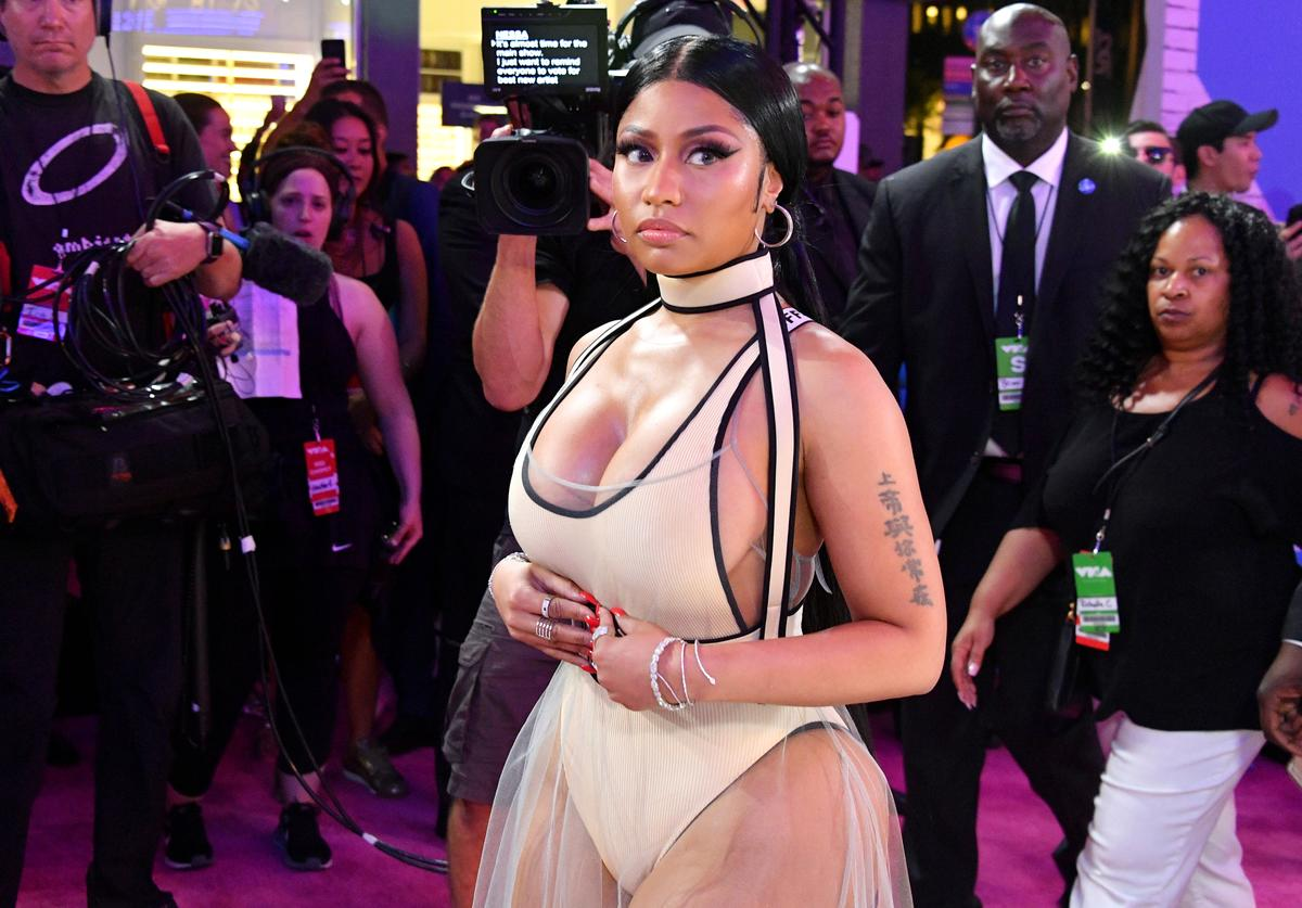 Nicki Minaj attends the 2018 MTV Video Music Awards at Radio City Music Hall on August 20, 2018 in New York City