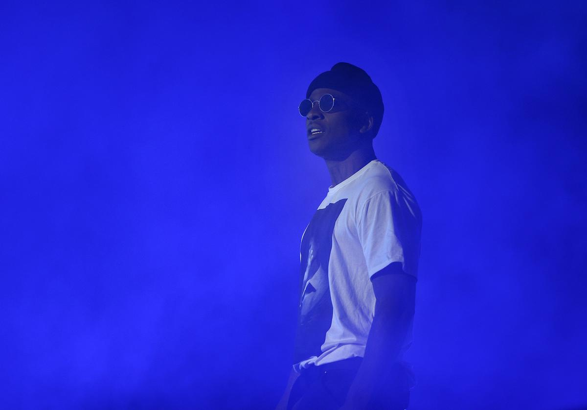 Skepta performs with BBK during Boy Better Know Takeover at The O2 Arena on August 27, 2017 in London, England