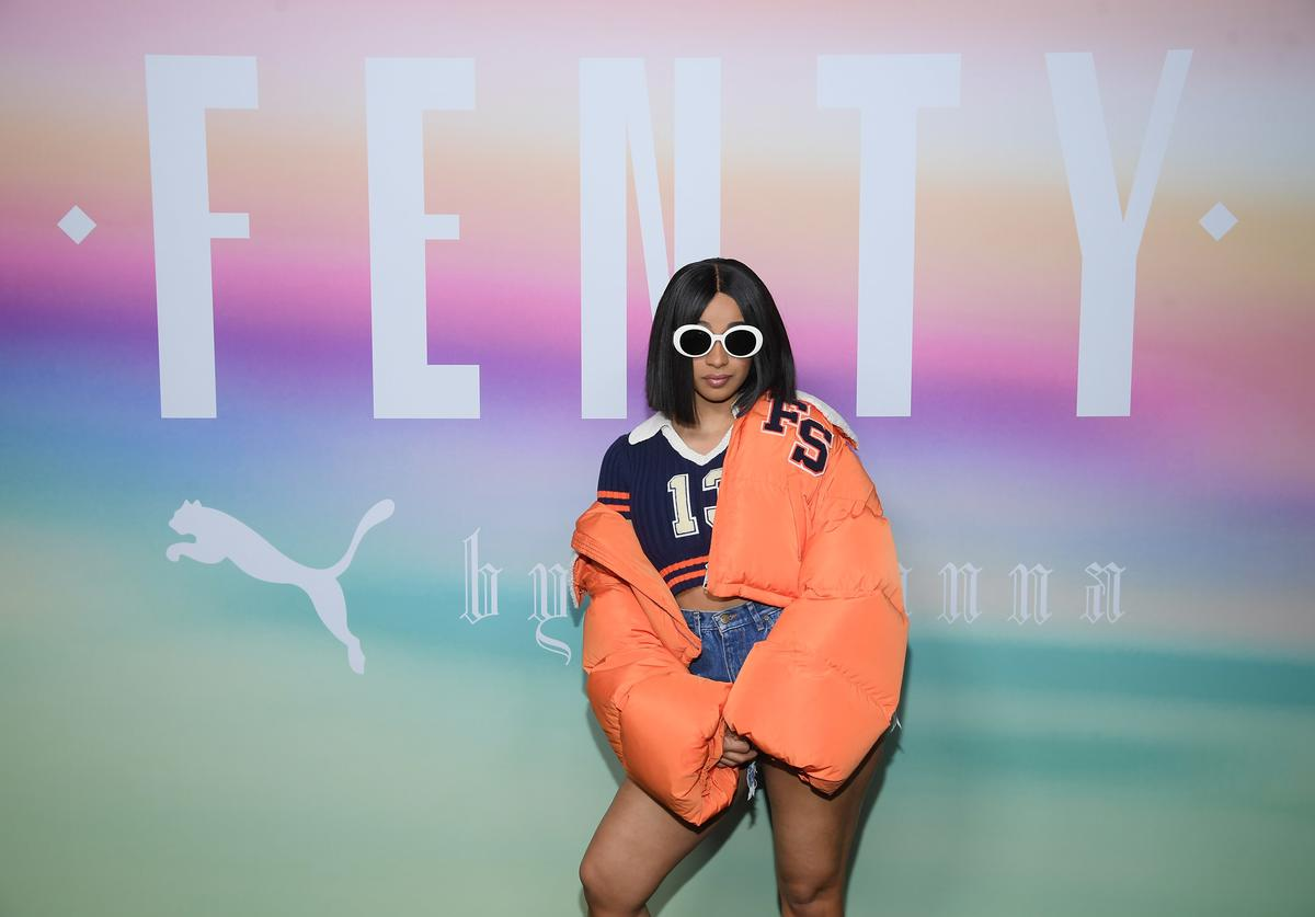 Cardi B attends the FENTY PUMA by Rihanna Spring/Summer 2018 Collection at Park Avenue Armory on September 10, 2017 in New York City