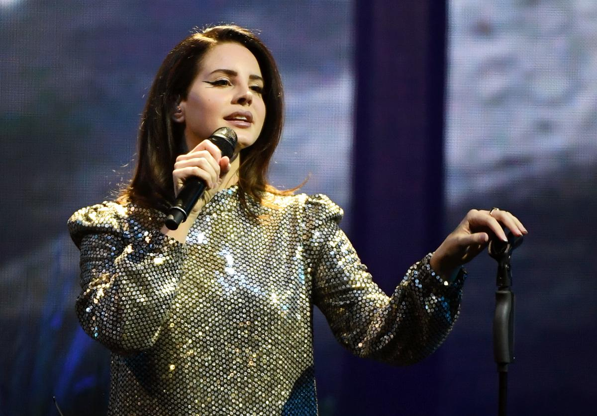 Lana Del Rey performs during a stop of her LA to the Moon Tour in support of the album 'Lust for Life' at the Mandalay Bay Events Center on February 16, 2018 in Las Vegas, Nevada