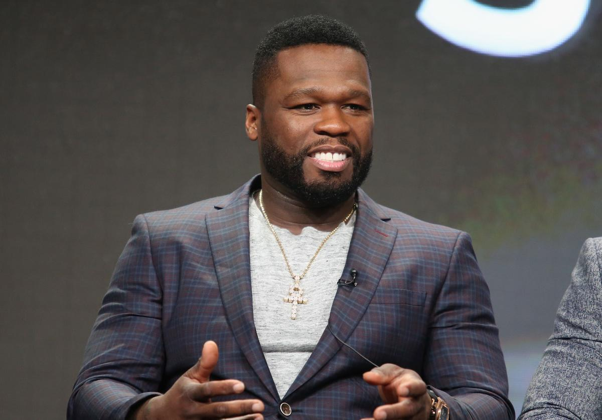 '50 Cent' Jackson speaks onstage during the 'Power' panel discussion at the Starz portion of the 2016 Television Critics Association Summer Tour at The Beverly Hilton Hotel on August 1, 2016 in Beverly Hills, California