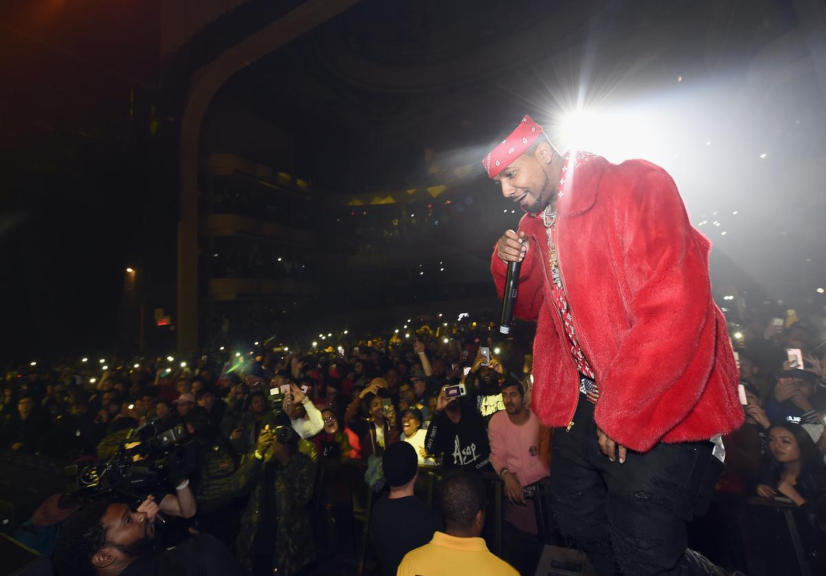 Juelz Santana performs at Spotify's RapCaviar Live in New York at Hammerstein Ballroom on November 21, 2017 in New York City