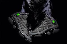"""Feast Your Eyes On New Images Of The """"Black Cat"""" Air Jordan 13"""