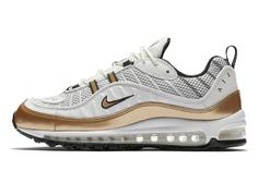 """Nike Introduces Air Max 98 """"UK"""" In White & Gold"""