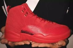 """Red Suede"" Air Jordan 12s Rumored To Release: First Look"