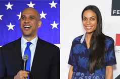 """Cory Booker Thinks Rosario Dawson As First Lady Would Be """"Incredible"""""""