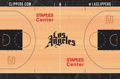 Clippers, Raptors, Cavs & Other NBA Teams' New Court Designs Leaked