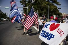 Donald Trump Greets Supporters Outside Of Hospital In Drive-By Photo-Op