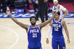 """Joel Embiid Shouts Out Sam Hinkie As 76ers Clinch No.1 Seed: """"Trust The Process"""""""