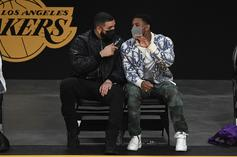 Drake & Michael B. Jordan Witness Lebron Jame's Clutch Play-In Shot From Courtside
