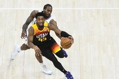 Donovan Mitchell Reacts After Suffering Ankle Injury