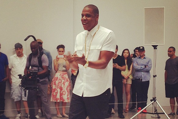 """Jay-Z Is Doing A Performance Art Piece Of """"Picasso Baby"""" Today In NYC"""