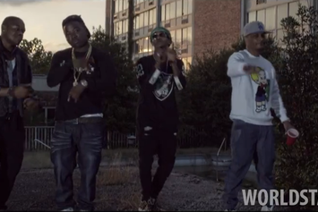 """Hustle Gang Feat. T.I., Troy Ave, Spodee & Yung Booke """"Money On My Mind"""" Video"""