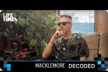 """Macklemore """"Decodes """"Neon Cathedral"""""""" Video"""