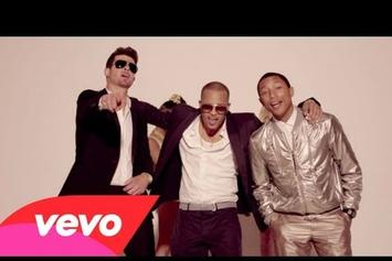 """Robin Thicke Feat. T.I. &Pharrell """"Blurred Lines"""" Video"""