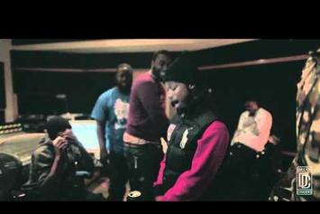 "Meek Mill Feat. Lil Snupe ""Freestyling In The Studio"" Video"
