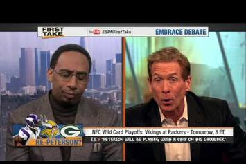 "T.I. ""Vikings VS Packers Prediction On ""First Take"""" Video"