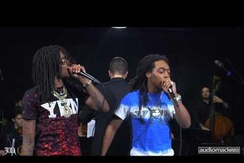 "Migos Perform ""Hannah Montana"" Backed By A 9-Piece Orchestra"