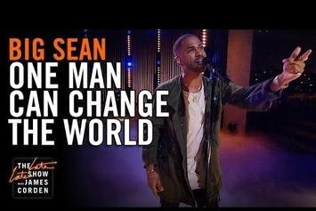 "Big Sean Performs ""One Man Can Change The World"" On The Late Late Show With James Corden"
