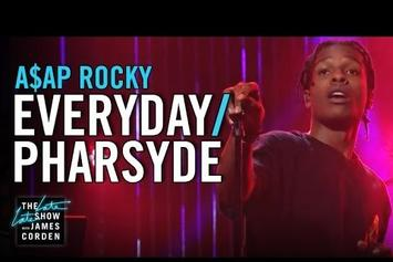 "ASAP Rocky Performs ""Everyday"" & ""Pharsyde"" On The Late Late Show"