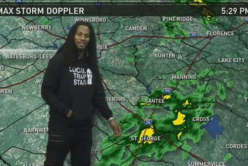 Waka Flocka Does The Weather On Local News Show